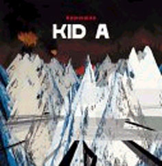 A picture of the album 'Kid A' by Radiohead